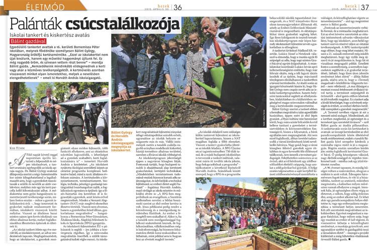 Kiss Tünde iskolakert tankert cikk