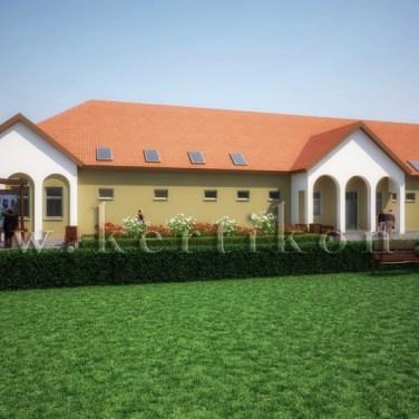 Fotórealisztikus látványterv, tájépítészeti koncepcióterv - irodaépület, irodaépület és környezete kialakítása, Mezőhegyes