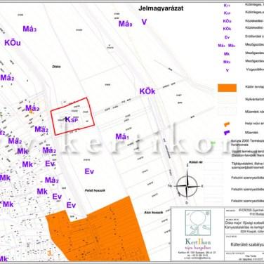 Külterületszabályozási terv részlet; Kisapáti, Diska major