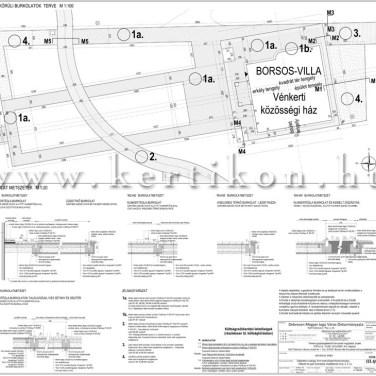 Burkolat tervek - villakert, park tervezés