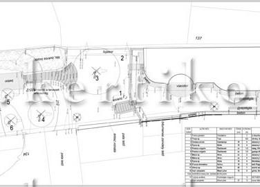 Fafelmérési és bontási terv - családi ház kert tervezés lejtős terepen