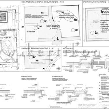 Játszótéri burkolatok terve, környezetalakítási tervezés