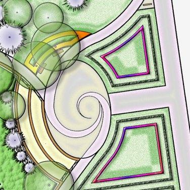 Tér rendezés, kertépítészeti terv; térkapcsolatok és közösségi tér terve