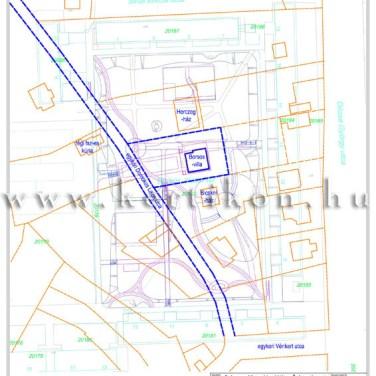 Villa környezet, térszerkezeti terv - egykor és most