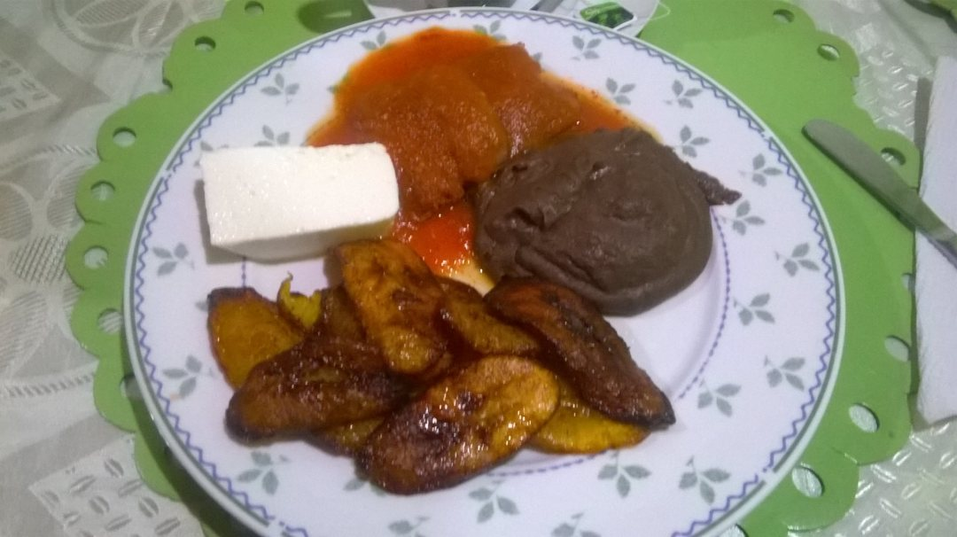 A typical dinner we would eat. I love me some plantains! At dinner we would discuss plans for the night. We would also share laughs over funny stories and sharing random facts