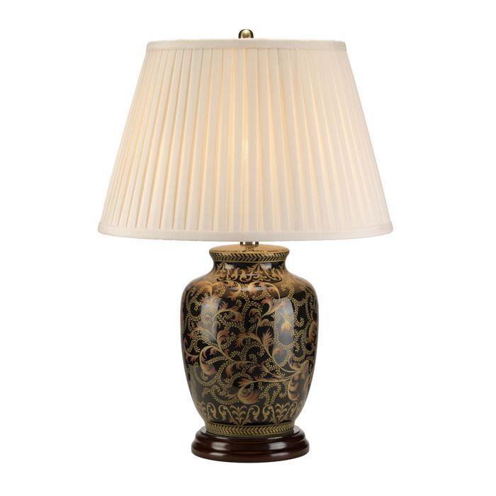 elstead morris small black gold table lamp morris tl small