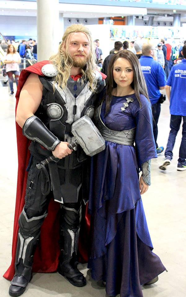 Jane Foster Cosplay Blue Asgard Dress And Armor Kes