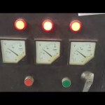motor 380v/3phase switch into 220v/3phase testing video