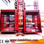 Quiet Engine Double Cabin Construction Hoist / Hoist For Construction 1t/2t/4t