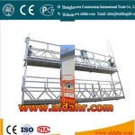 wire rope hanging suspended platform/ building cradle machinery/window cleaning gondola