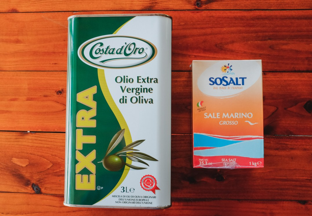 Even the oil and salt are from Italy (by Guang-Hui Chuan of GSquaredTravel)