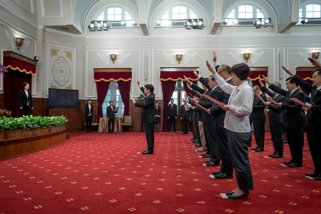 Premier Lai swearing in (Office of the President, CC BY 2.0)