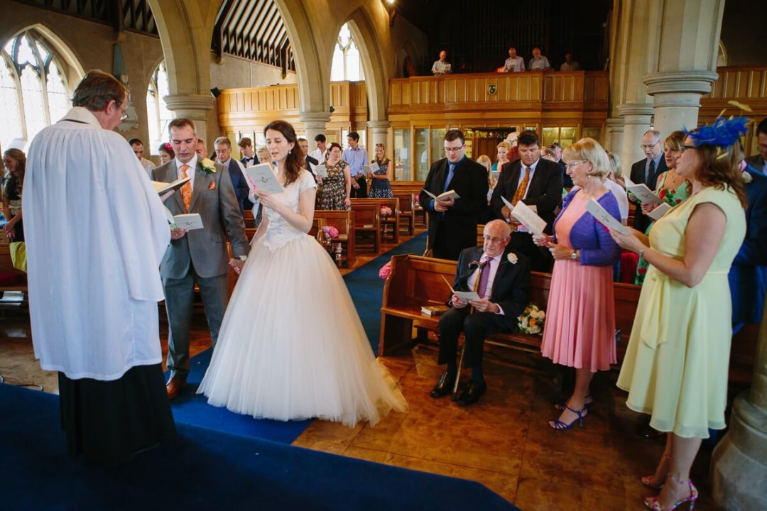 Wedding ceremony in the Cotswolds