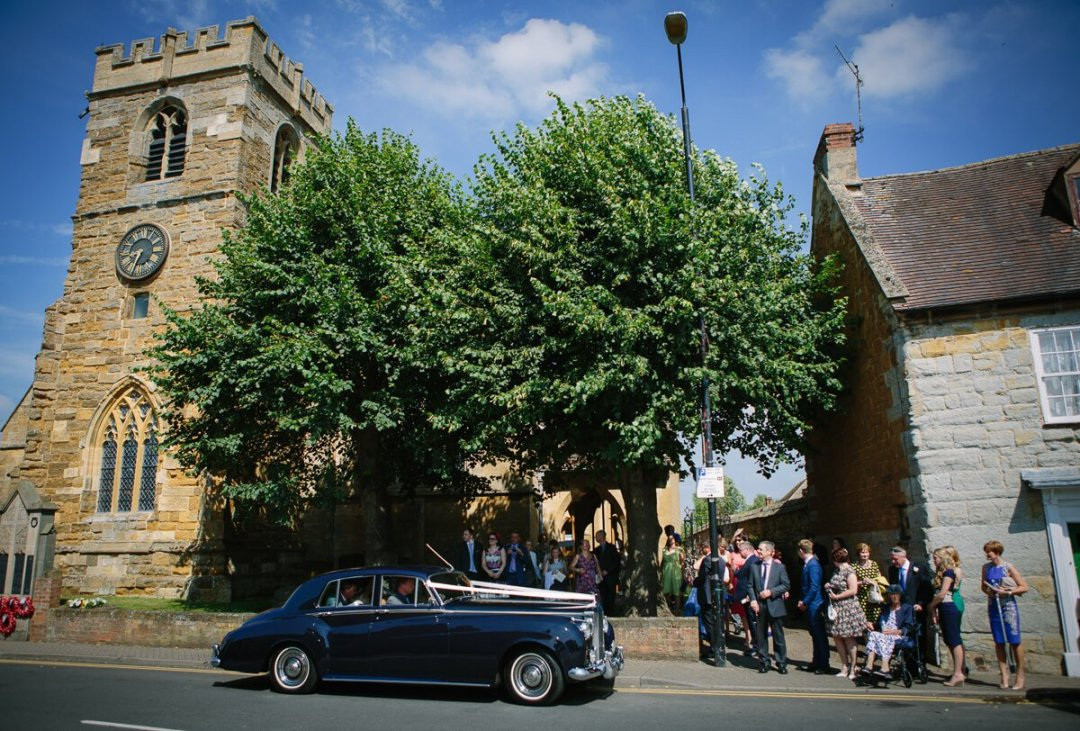 Church wedding in the Cotswolds