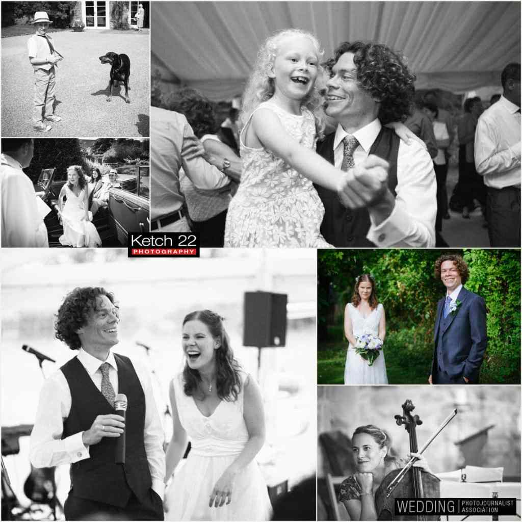 Groom dancing with daughter at Ross on Wye wedding