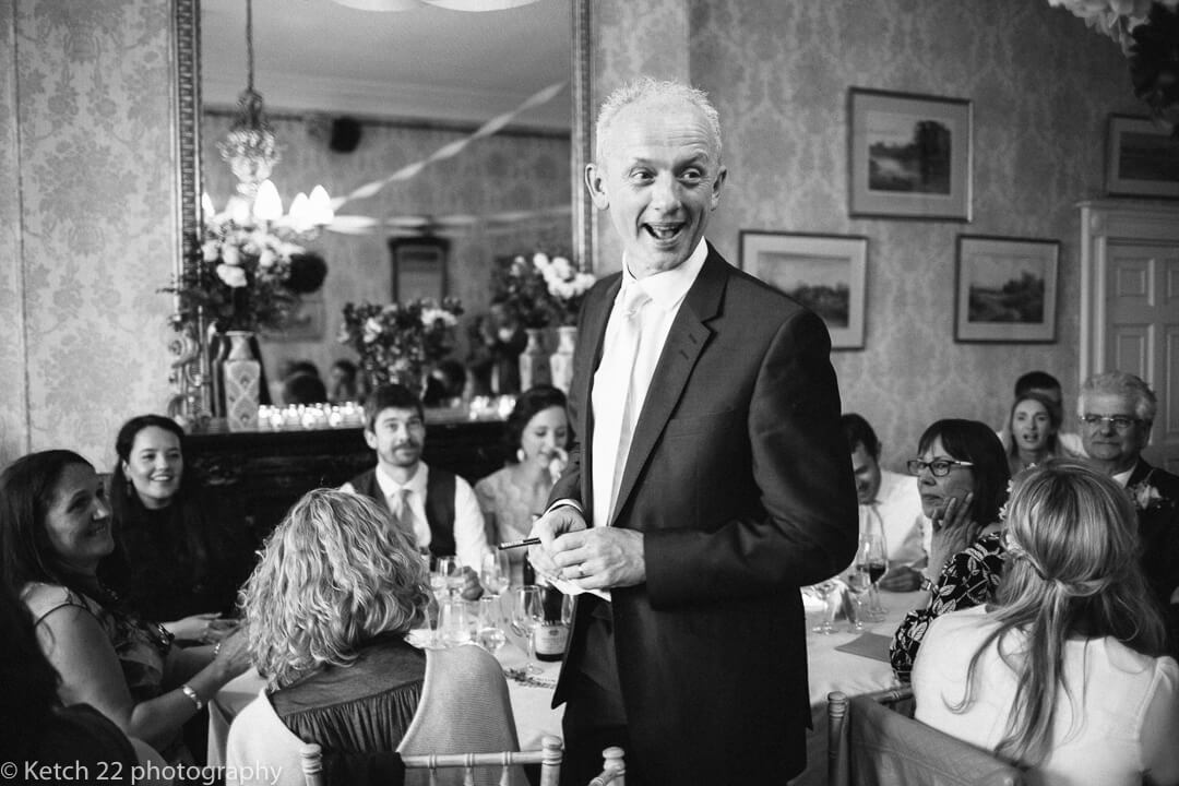 Father of bride making wedding speech