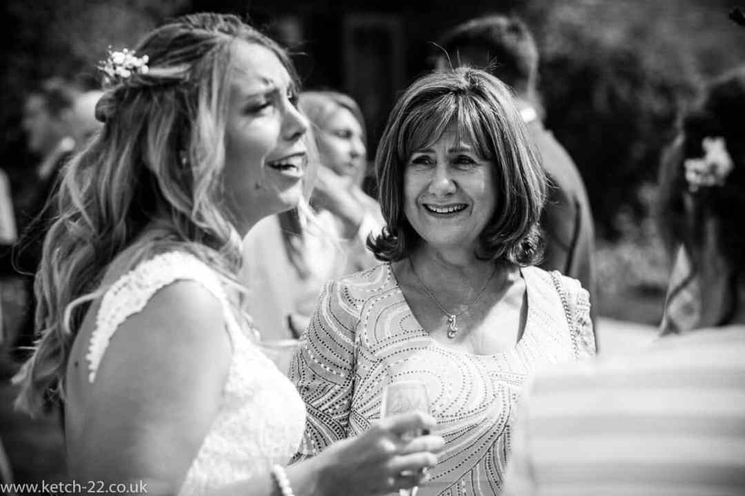 Mother of bride looking proudly at her daughter