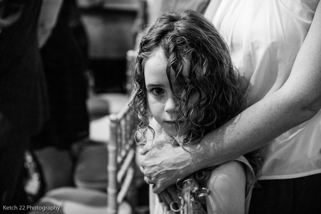 portrait of little girl at wedding