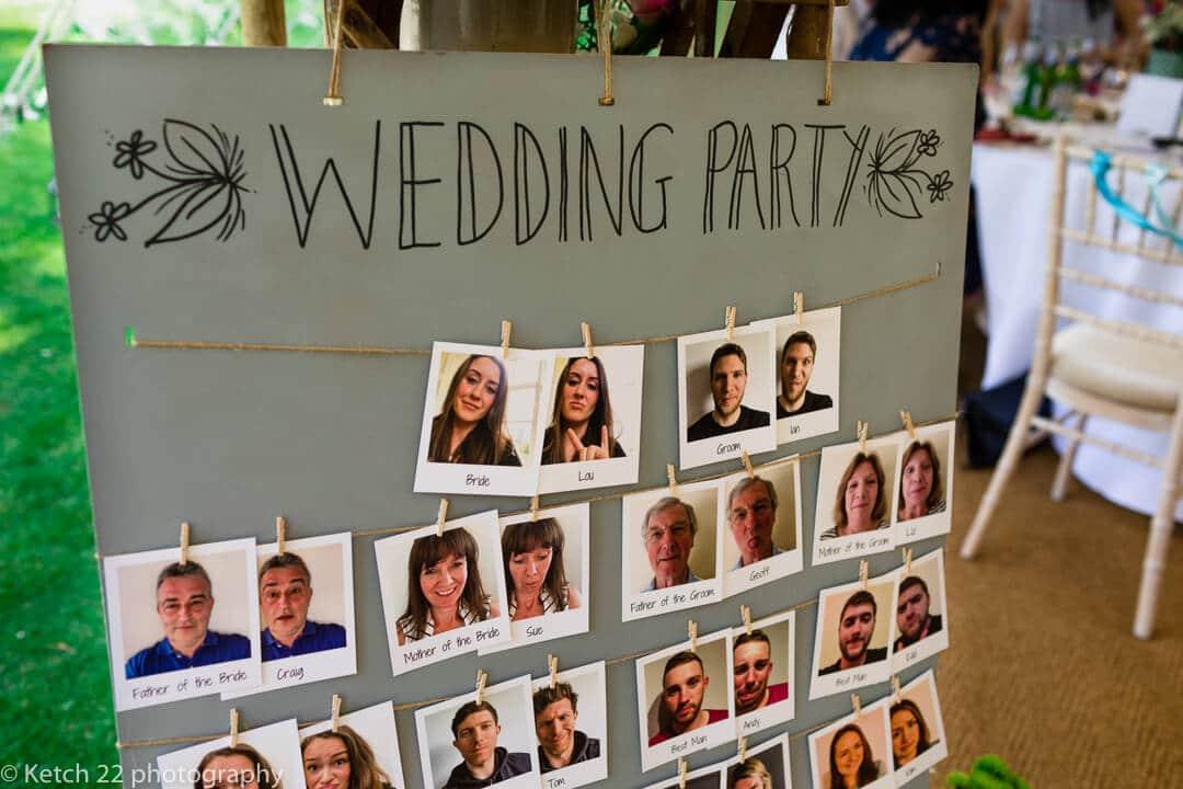 Detail photo of wedding sitting plan
