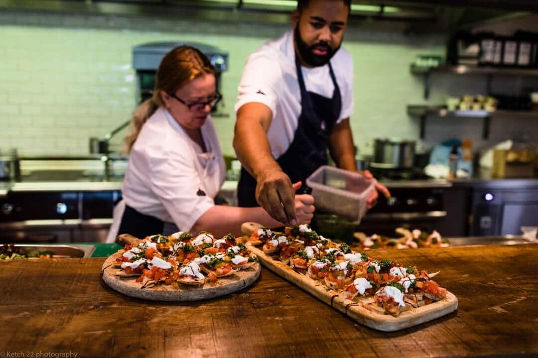 Chef making pizza at no 38 wedding Cheltenham