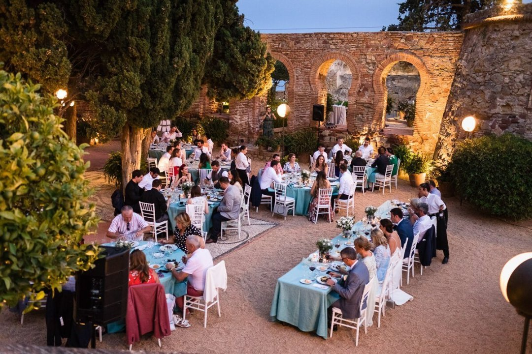 Beautiful setting for reception at Wedding in Malaga Spain