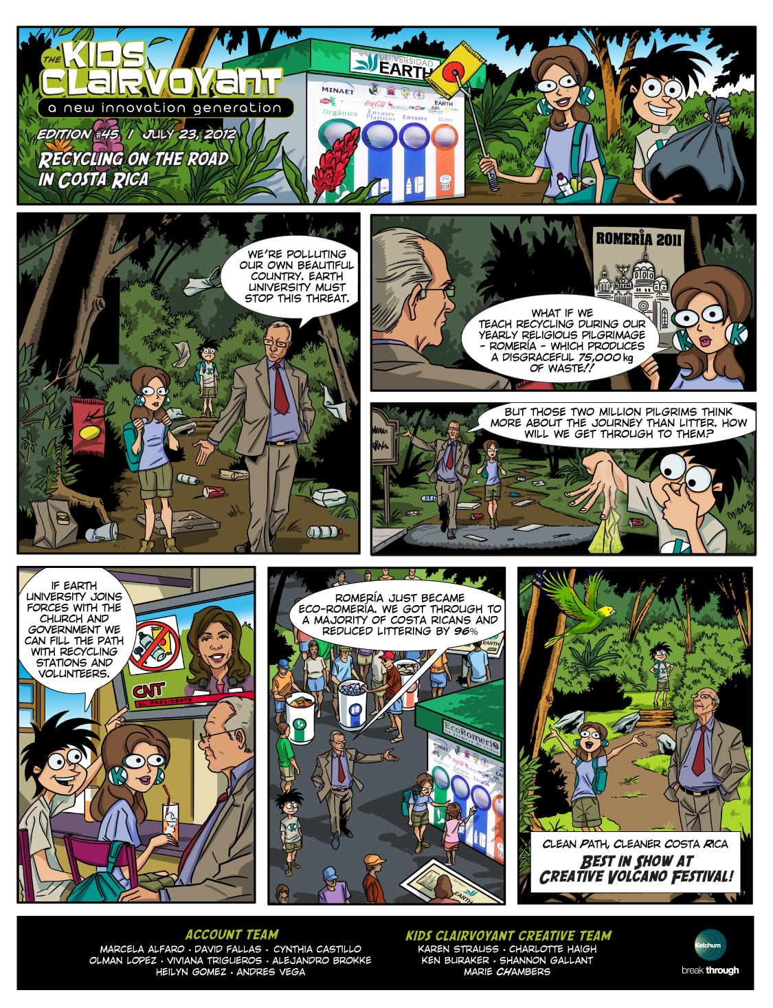 Kids Clairvoyant Comic Strip