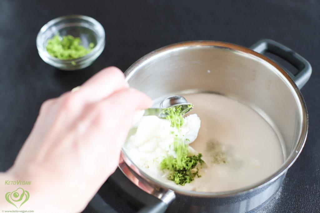 Adding lime peel | keto-vegan.com