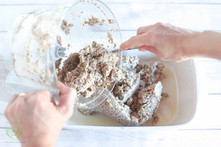 Transfer to baking dish | keto-vegan.com