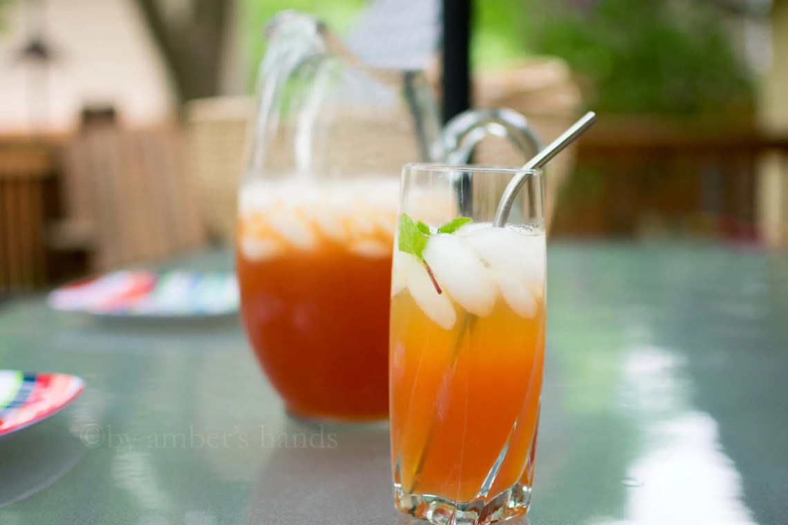 Bourbon Peach Tea Cocktail -keto cake walk-