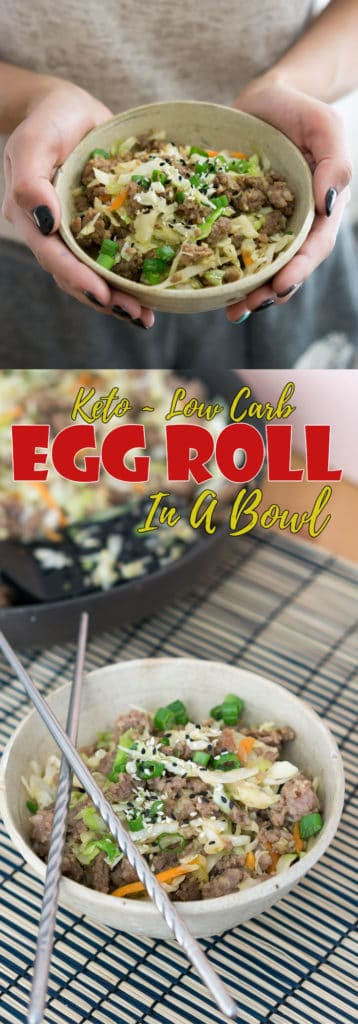 This keto egg roll in a bowl is the prefect take on and replacement to traditional Asian egg rolls!