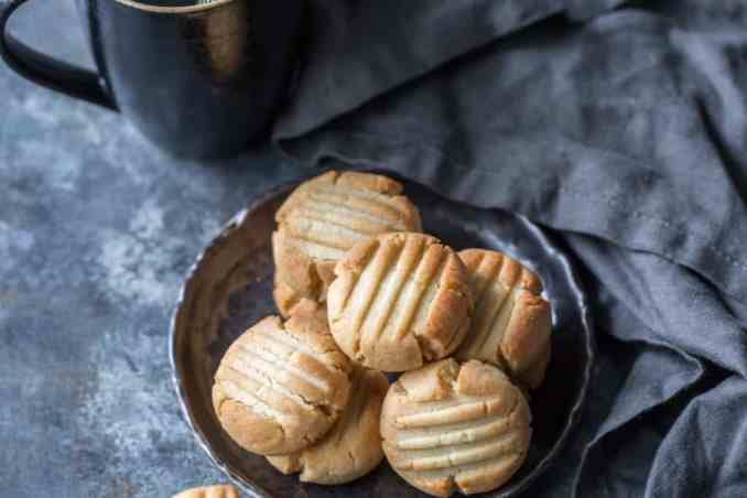plate of keto butter cookies