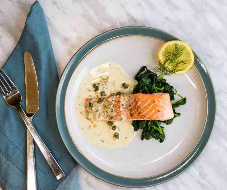 Salmon with Lemon Dill Cream Sauce