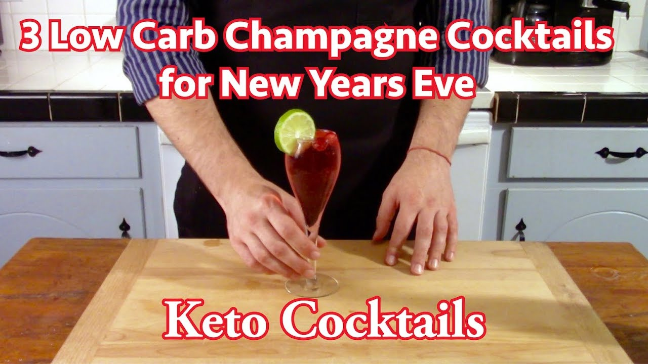3 Low Carb Champagne Cocktails for New Years Eve
