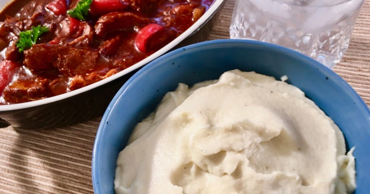 Keto Cauliflower Mashed Potatoes