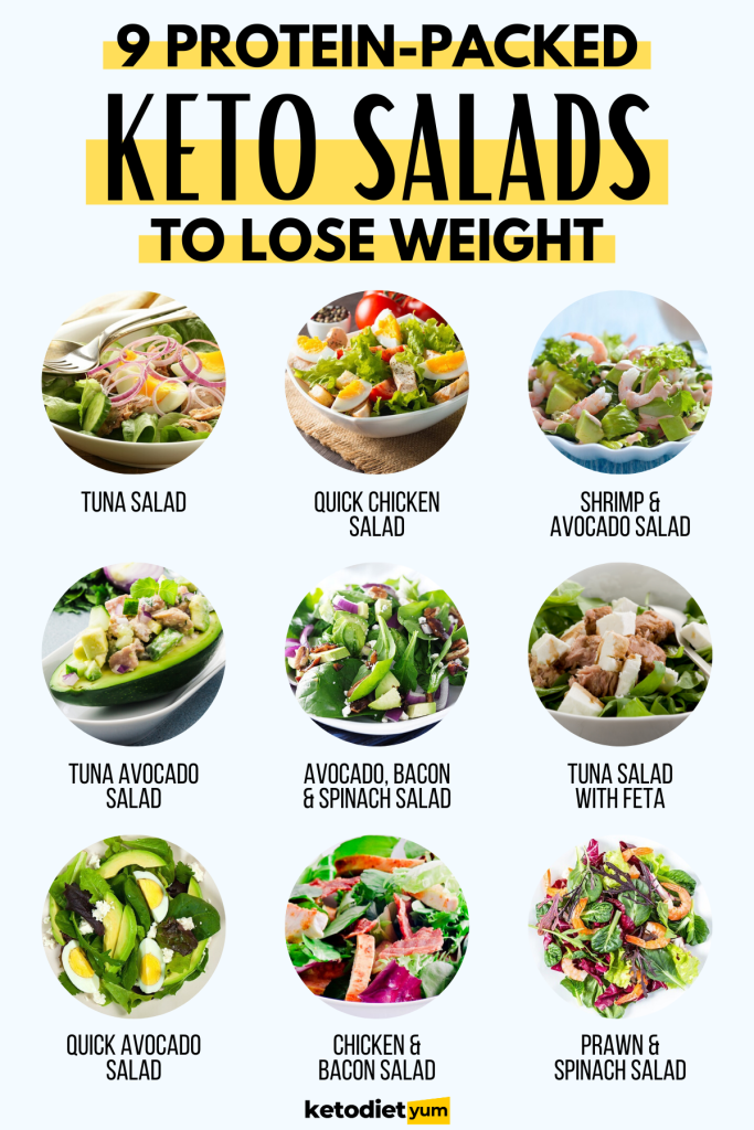10 Protein Packed Keto Salad Recipes For Weight Loss