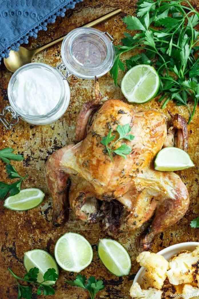 Easy keto baked chicken healthy dinner recipe