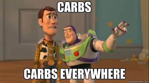 toy story saying carbs carbs everywhere meme
