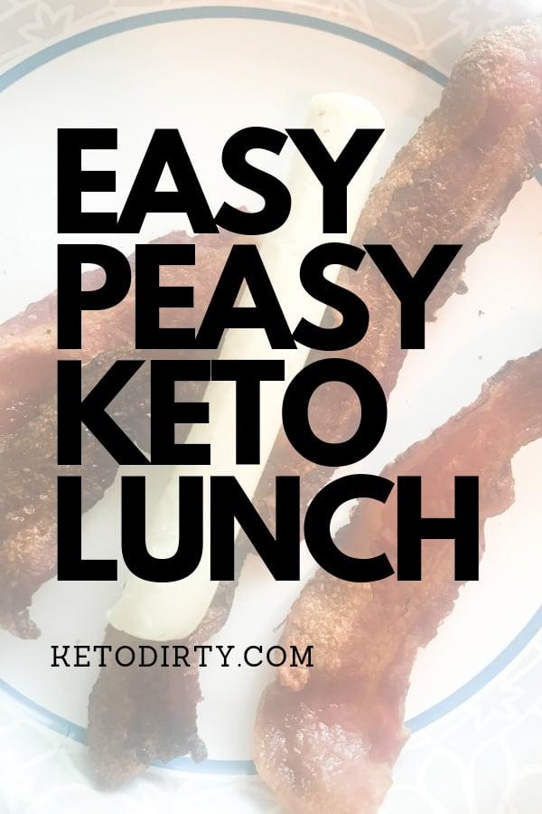 EASY KETO Lunch bacon mozzarella