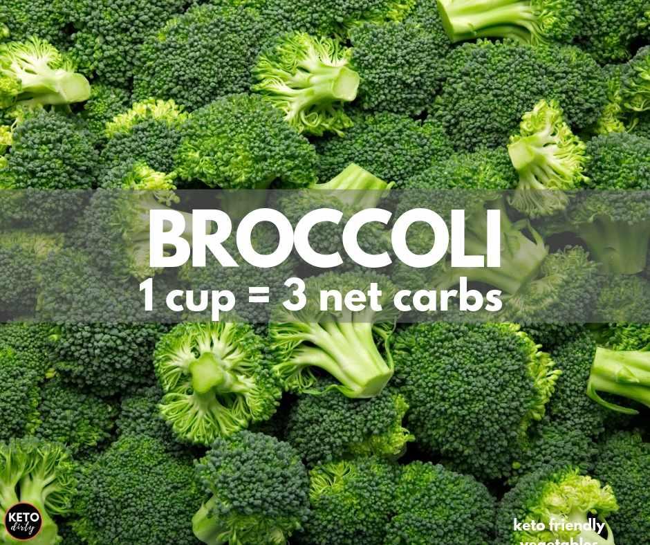 broccoli keto vegetable 3 net carbs