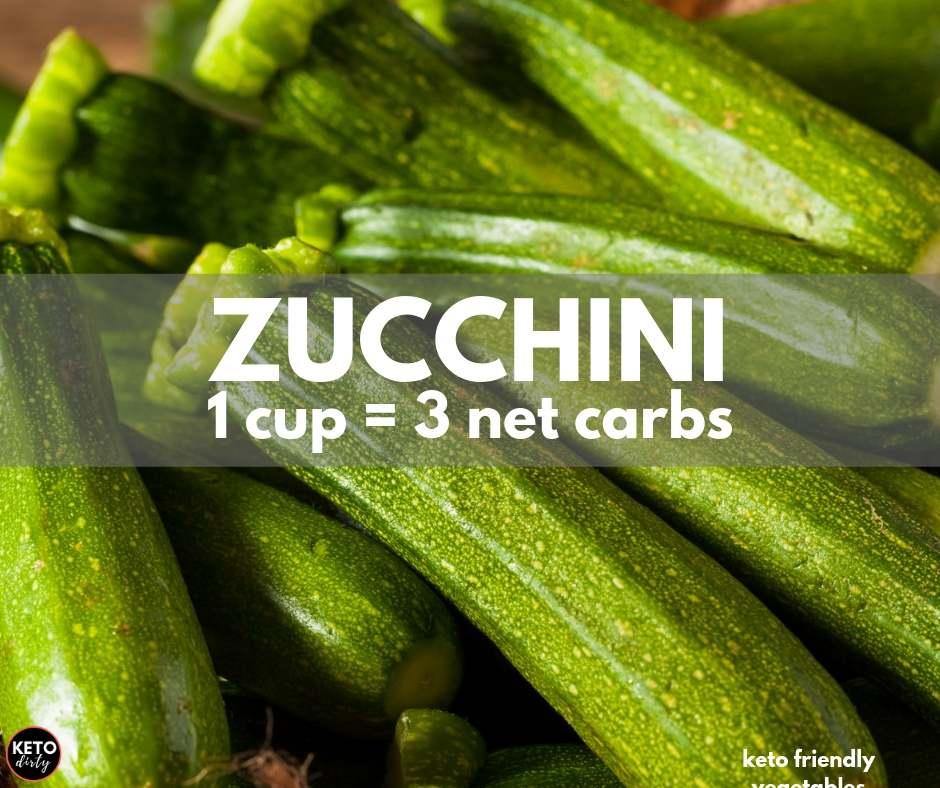 zucchini 3 net carbs keto veggie