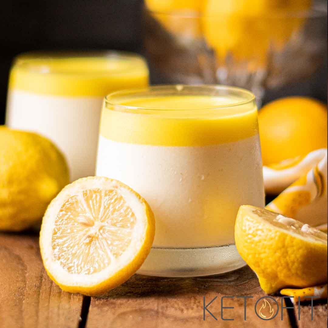 Recept voor keto citroen pannacotta