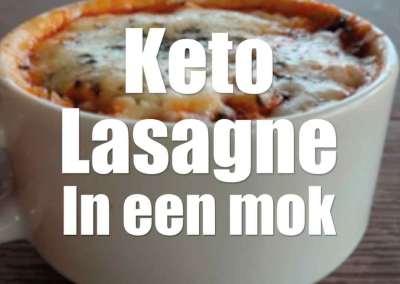 Lasagne in een mok