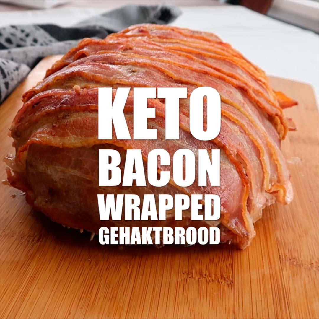 Keto recept voor gehaktbrood met bacon