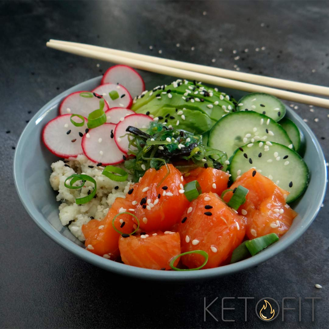 keto poke bowl recept