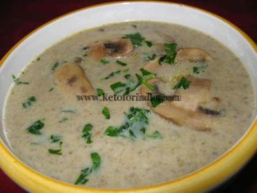 Navratri Keto Diet Plan: Mushroom Soup With Broccoli