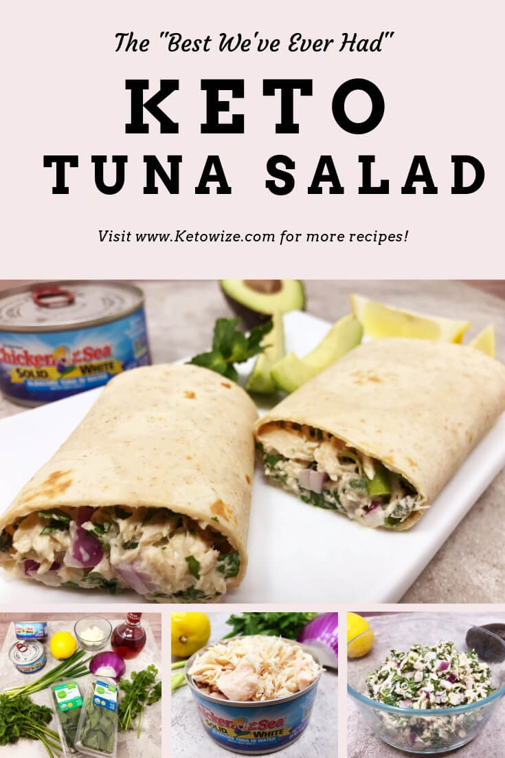 This keto tuna salad is one of my \