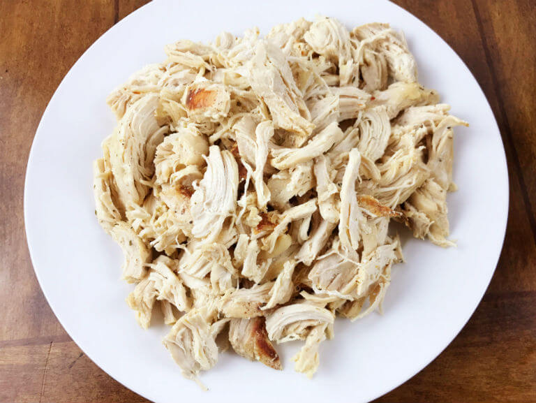 Shredded Chicken on Plate