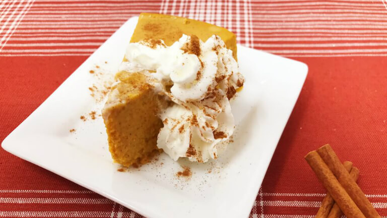 Crustless Keto Pumpkin Pie