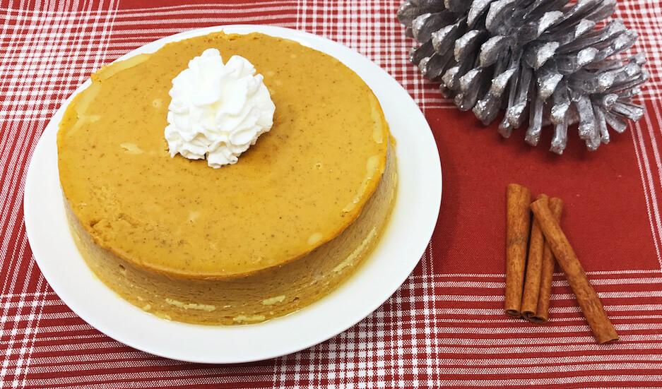Crustless Keto Pumpkin Pie Whole