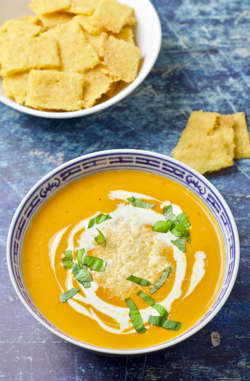 Creamy Keto Low Carb Tomato Bisque Recipe